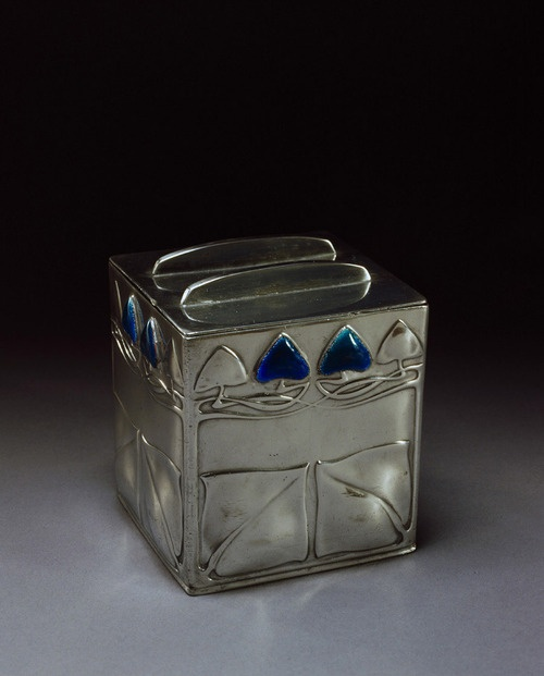 Archibald Knox Tudric Silver Tea Caddy