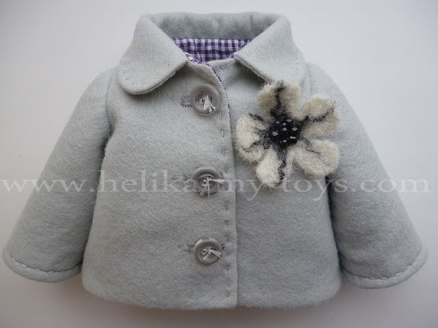 doll coat pattern . So elegant, I love it! Nice tutorial, too...the picture make it very clear :)