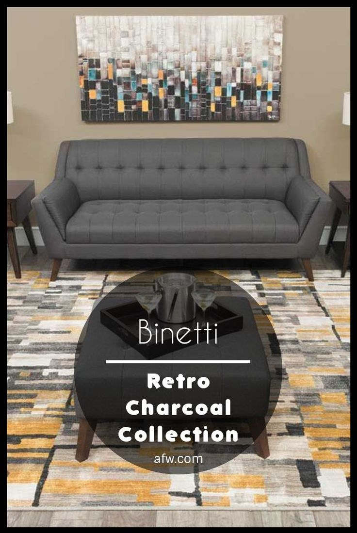 American furniture warehouse the mid century modern binetti retro charcoal collection by emerald furnishings is now available at