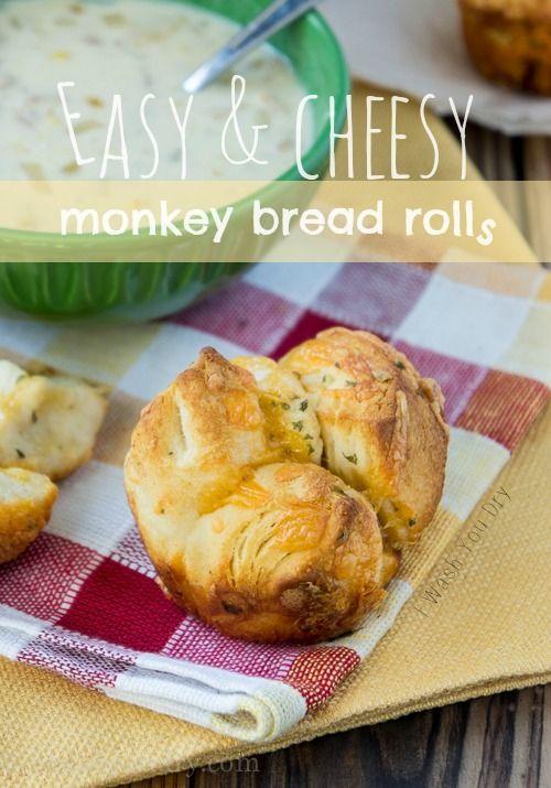 Easy and Cheesy Monkey Bread Rolls