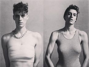 Genderqueer model Rain Dove is redefining expectations for bodies and genders in fashion.