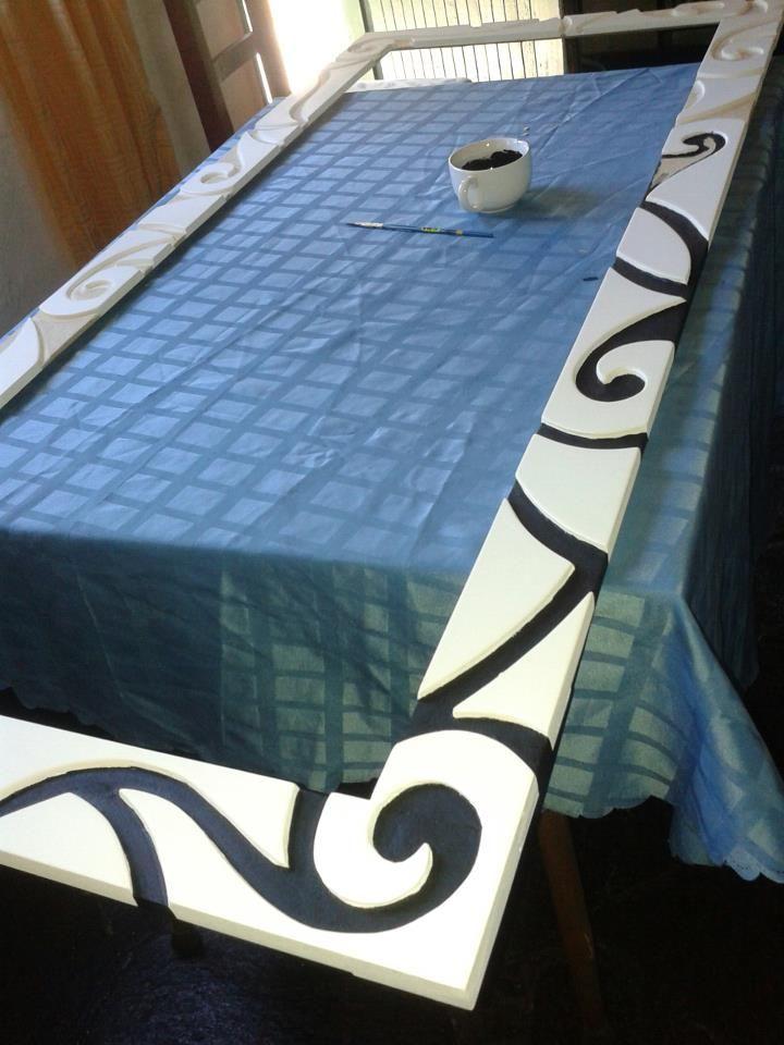 Proceso de pintado en marco para espejo de 1 50 x 0 80 mts for Espejos con marcos modernos
