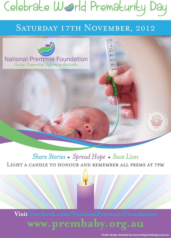 Our national poster promoting World Prematurity Day in Australia