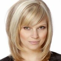 layered mid length hairstyle
