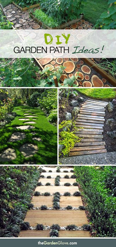 """These paths are beautiful BUT they would all be a horrible """"walk down the garden path"""" and treacherous!  off to one side would work better!"""