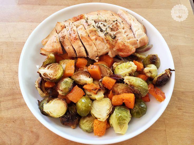 Fesa di tacchino al forno  con verdure http://www.ricettealvolo.it/?p=1256