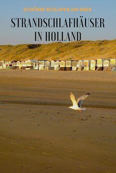 VON DER BRANDUNG GEWECKT - in Wijk aan Zee stehen kleine Ferienhäuschen unmittelbar am Strand.