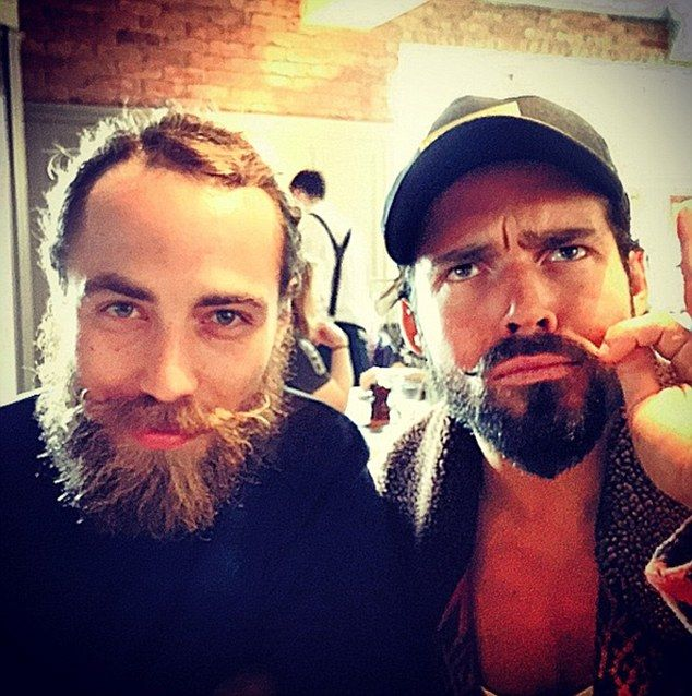 Inspiration: James Middleton (left) and Made In Chelsea lothario Spencer Matthews (picture...