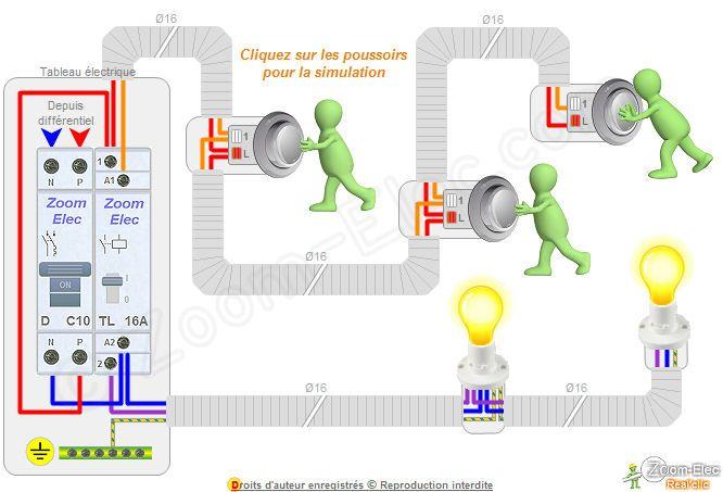Schema cablage telerupteur electrice Pinterest Electrical