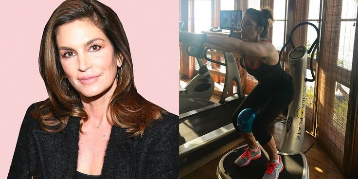 Why Cindy Crawford's Ball Squat Is Great for Nailing Proper Form and Working Your Thighs