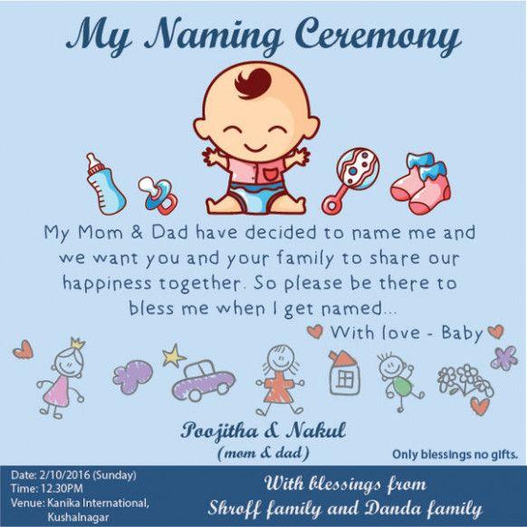 Baby Naming Invitation Wording In 2020 Baby Shower Invitation Cards Naming Ceremony Invitation Invitation Wording