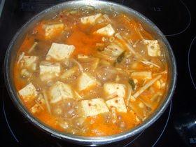 超簡単!! 韓国風 豆腐キムチ納豆チゲ