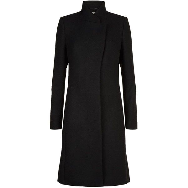 Reiss Lanston Single Breasted Coat ($440) ❤ liked on Polyvore featuring outerwear, coats, reiss, single-breasted trench coats, slim coat, longline coat and reiss coats