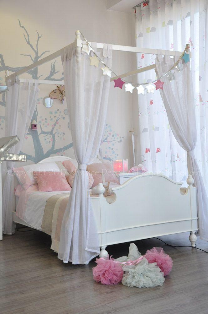 chambre fille princesse lit baldaquin