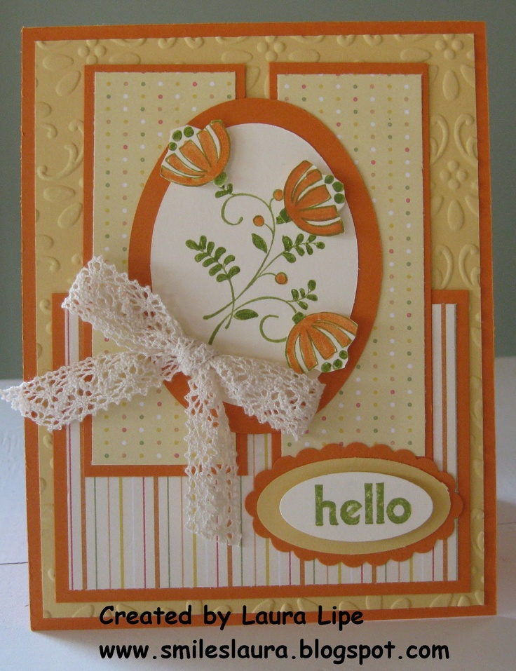 Smiles, Laura: Spring challenge card....  Love this sketch!