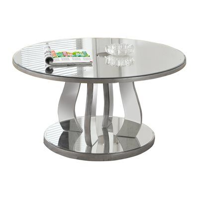 Monarch Specialties I 3725 Mirror Coffee Table