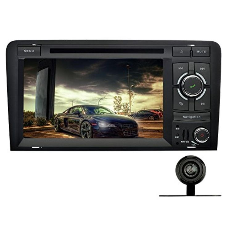 YINUO 7 inch Android 5.1.1 Lollipop Quad Core Car Stereo 2 Din HD 1024 Touch Screen Car Radio Receiver DVD GPS Navigation for Audi A3 (2003-2013),+Backup Camera - Brought to you by Avarsha.com