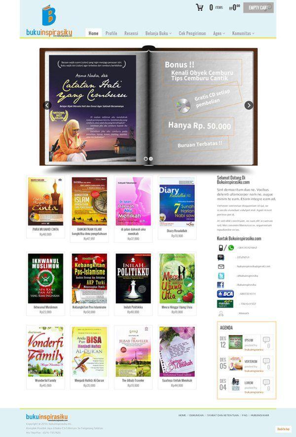 web toko online dengan shopping cart dan online payment - Buku Inspirasiku. bukuinspirasiku.com