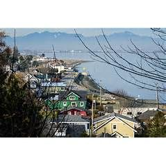 The U.S. town of Point Roberts, Washington is on the tip of the Tsawwassen Peninsula, which belongs to Canada. The only land route out of Point Roberts is through Canada.
