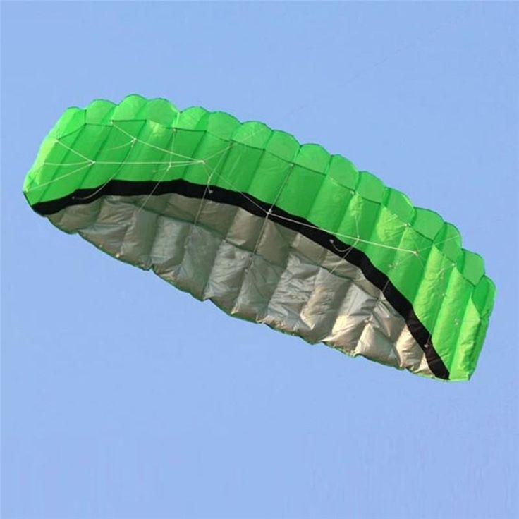 2.5m Dual Line Parafoil Kite With Flying Tools Power Braid Sailing Kitesurf Rainbow Sports Beach Free Shipping