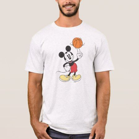 Sporty Mickey | Spinning Basketball T-Shirt - tap, personalize, buy right now!