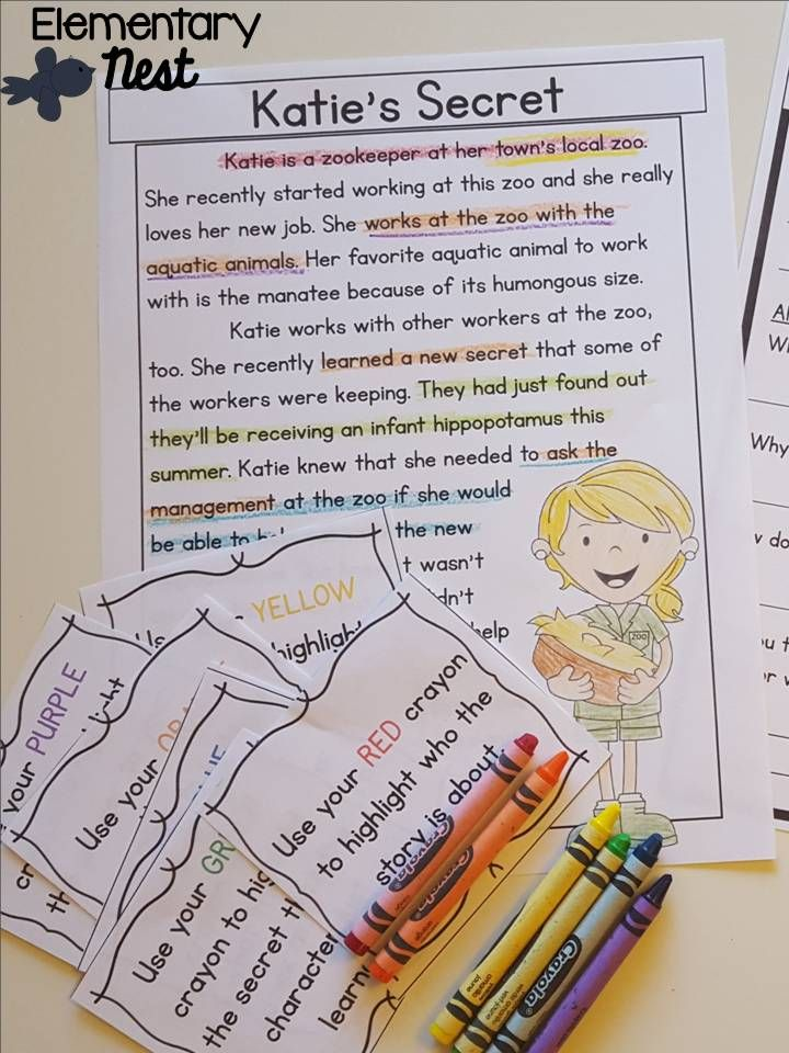 RL3.1 ask and answer questions- passages and comprehension activities focusing on the CCSS ELA standard