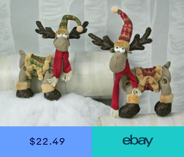 "35093 Big 15/"" Snug Sweater Standing Moose Christmas Decoration Lodge Cabin"