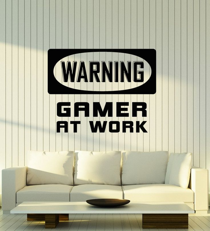 Vinyl Wall Decal Gamer Room Idea Video Game Gaming Decor Art Stickers Mural Unique Gift (ig5113) – – #GamerRoom|DIY