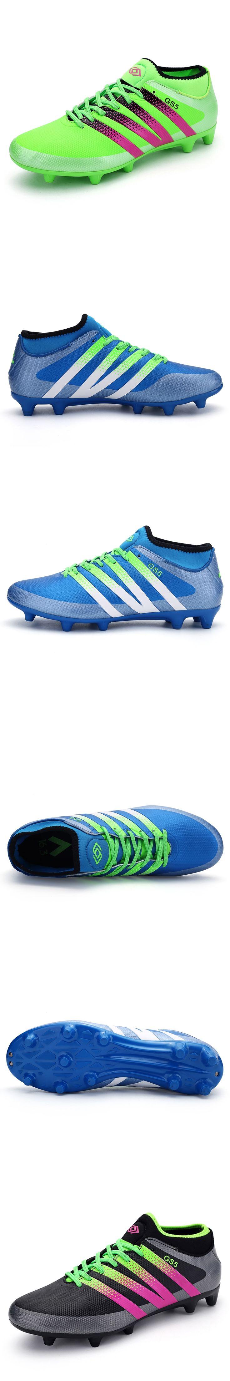Mid Cut Teenager Football Shoes Outdoor FG Soccer Cleats Firm Ground Kids Men Boys Soccer Boots Scarpe Da Calcio Size 35-44