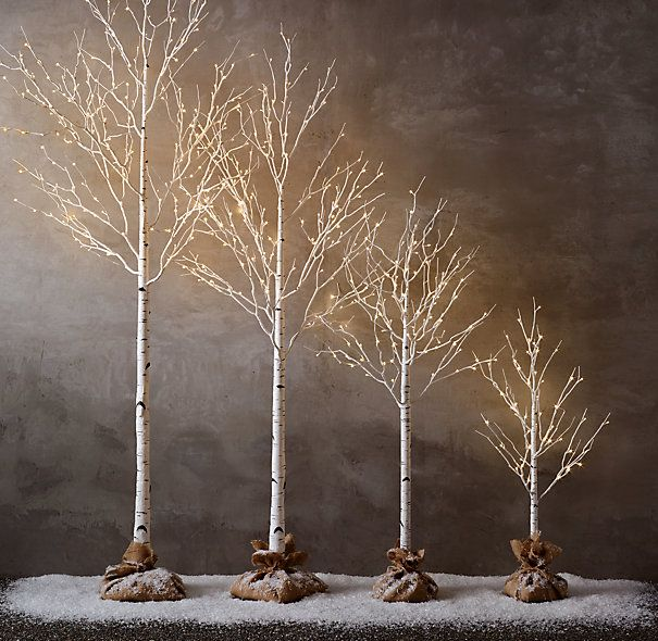 """Winter Wonderland Tree - Flocked $79 - $229 SPECIAL $65 - $199 Cultivate a winter forest with trees that lend a magical glow to indoor and outdoor settings. The branches, dusted with snow and warm-white lights, look elegant on their own or can be strewn with garlands and ornaments. 4' Tree: 44-48""""H 6' Tree: 68-72""""H 8' Tree: 92-96""""H 10' Tree: 116-120""""H Cord: 16½'L"""