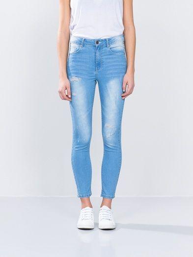 New High 55 Trash jeans | 7163959 | Blå | BikBok | Norge