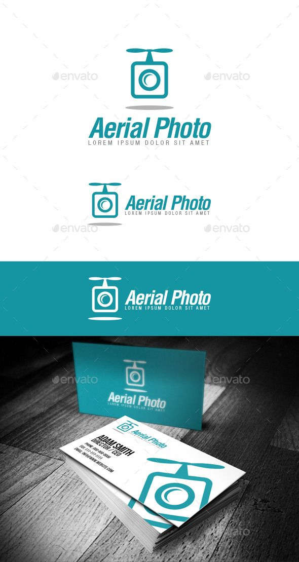 Aerial Photo Logo For all drone lovers and aerial photography. This logo was des…