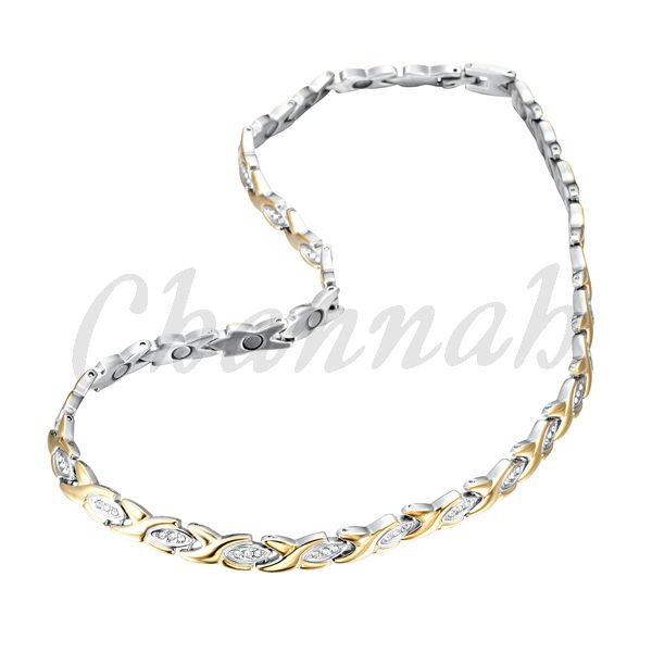 Find More Chain Necklaces Information about Ladies 96pcs Crystals Magnetic…