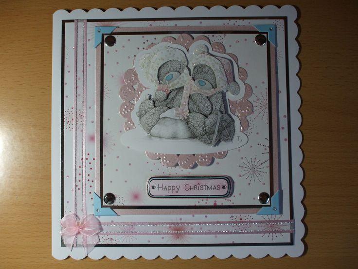 Handmade Tatty Teddy Christmas Card