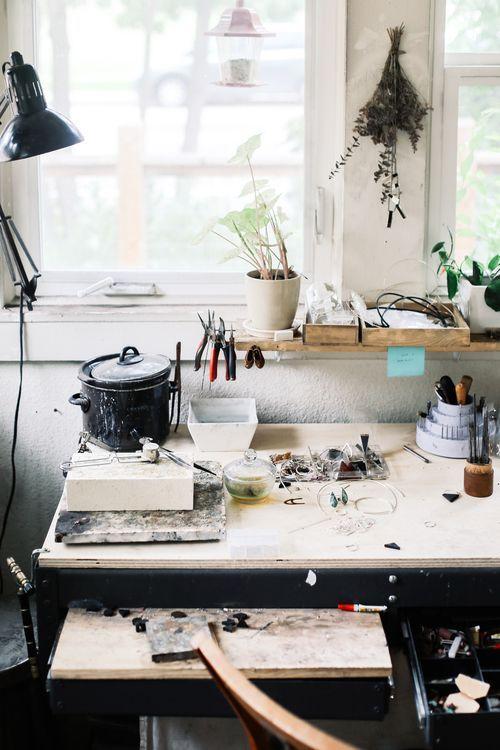 Photographer's workspace.