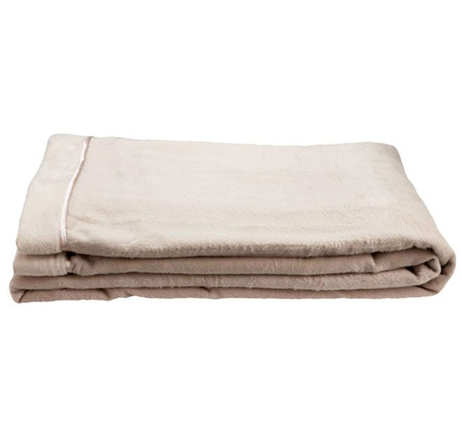 Kas Maddox Queen Bed Blanket Stone