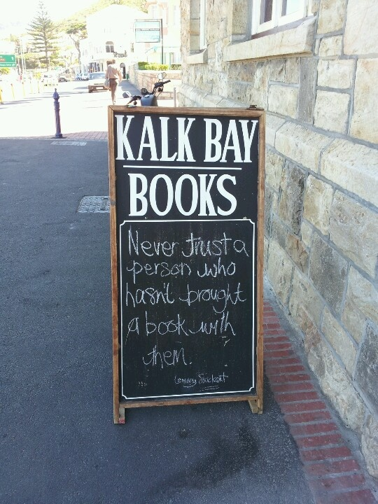 Kalk Bay books  http://www.capepointroute.co.za/seeit-kalkbay.php