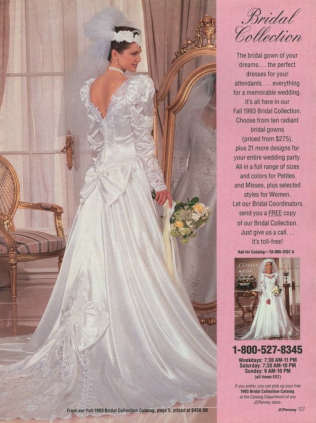 The 21 most embarrassing pages of the 1993 j c penney for Jcpenney bridesmaid wedding dresses