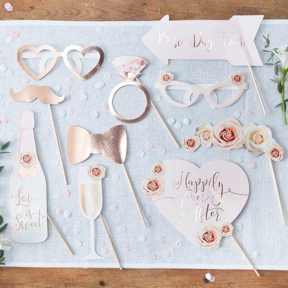 Foto Accessoires Hochzeit Fotobox Bilder Rosegold Wedding Photo Booth Props Diy Wedding Photo Booth Wedding Photo Props