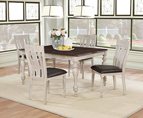 Arch Weathered Oak Dining Set Table With Extension Leaf Four Chairs Solid Wood Dining Set Black Dining Room Furniture Oak Dining Sets