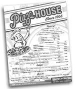 Pizza House.  Serving hand-rolled, thin crust pizza since 1958.  312 E. Commercial St.  Springfield, Missouri.
