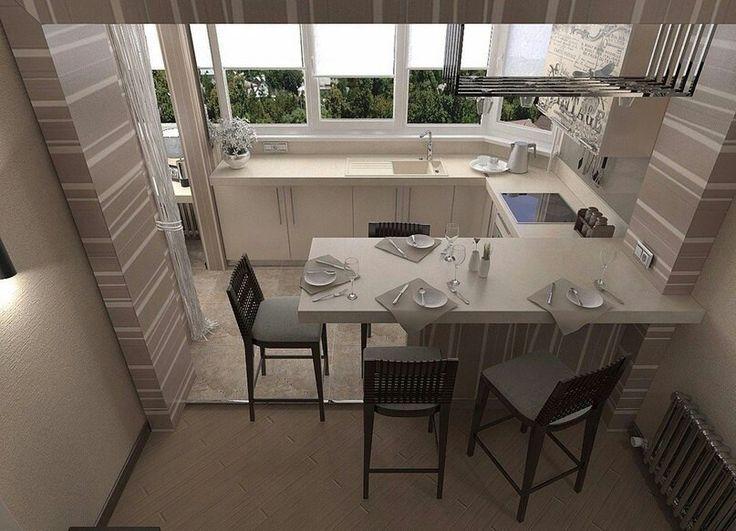 Идея оформления балкона и кухни