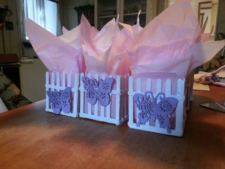 Butterfly Picket Fence Centerpieces Maybe With