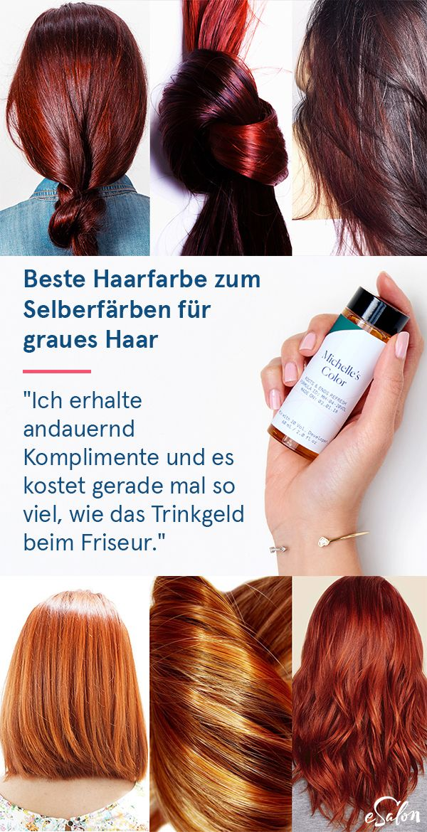 "Die einfache Lösung, graues Haar abzudecken: ""Ich liebe es … es hat mir ein…  # 5rb hair color esalon hair styles hair dye beauty ideas makeup chestnut colors summer fall trends haircut custom root touch up"