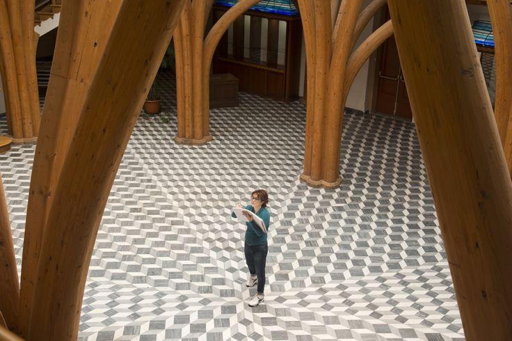 Disegno dal vero della struttura lignea del Salone Portoghesi - Tettuccio - Montecatini Terme #architettura #Portoghesi #disegno #Tettuccio #Montecatini
