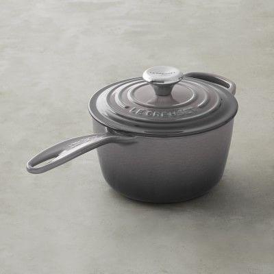 Le Creuset Signature Cast-Iron Saucepan, 1 1/2 -Qt., Oyster Grey
