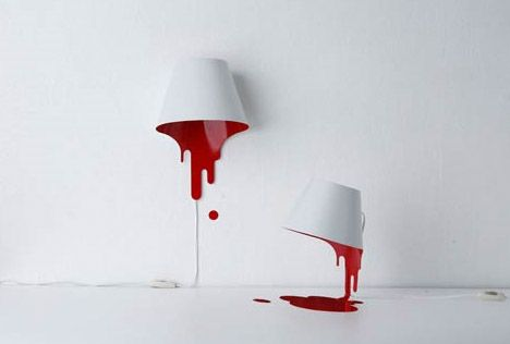 bloody lamp design