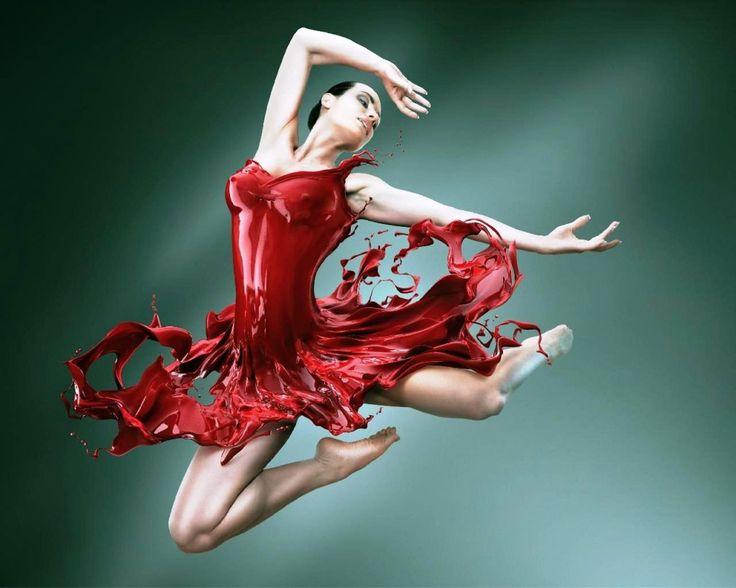 Ballet Dancer Red Paint Dress Red Pinterest Ballet