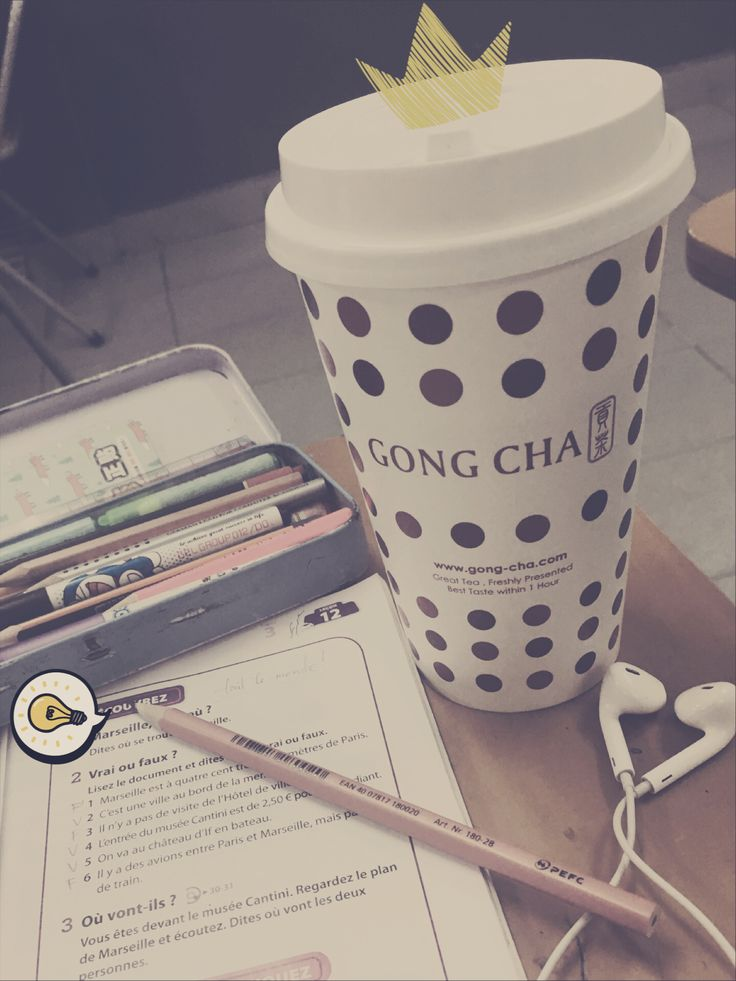 Hot drink from Gong Cha: Earl Grey with Milk Foam
