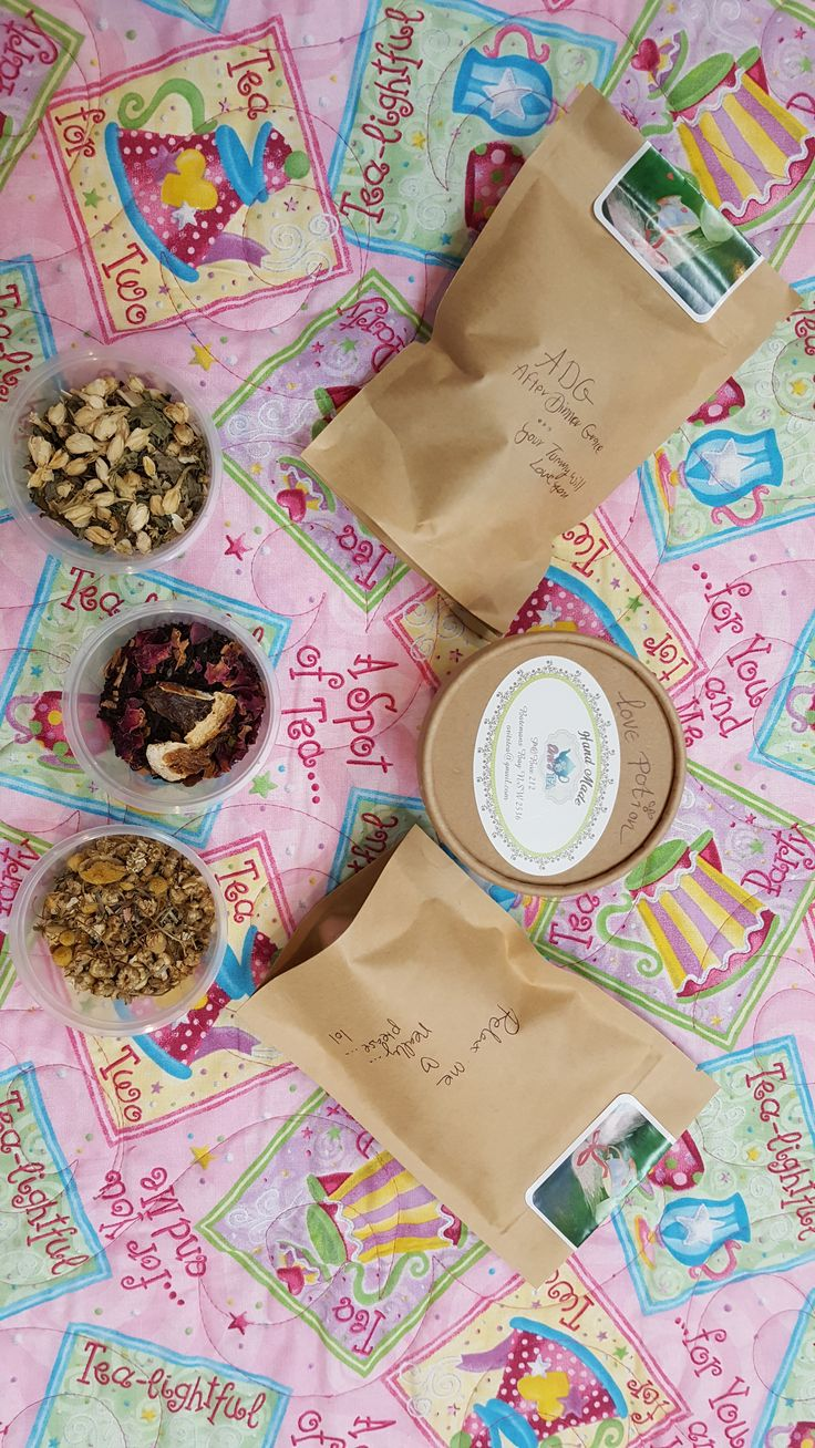 Handcrafted herbal teas by Orits Teas on a Handmade quilt by Dementia Australia ACT Division's Quilts For Linda Project. At The Paris End, Mitchell, Canberra